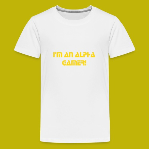 Alpha Gamerz T-Shirt Golden Letters - Kids' Premium T-Shirt