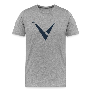 Vexento Shirt (Mens T-Shirt) [Grey] - Men's Premium T-Shirt