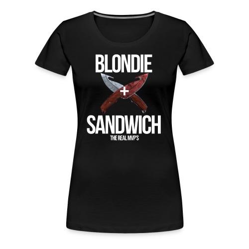 Sandwich + Blondie [Female] - Women's Premium T-Shirt