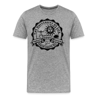 T-Shirts ~ Men's Premium T-Shirt ~ University of Life logo + address on back