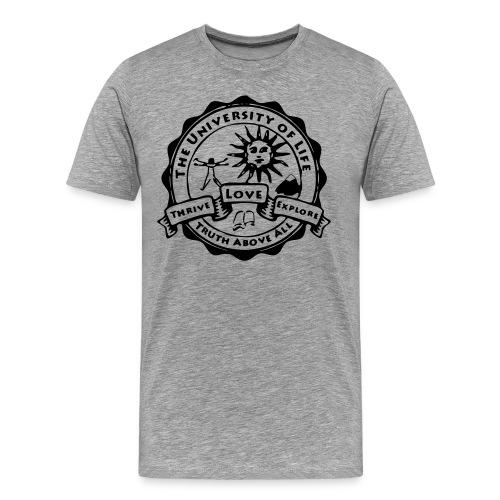 University of Life logo + address on back - Men's Premium T-Shirt
