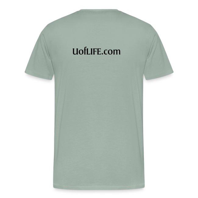 University of Life logo + address on back