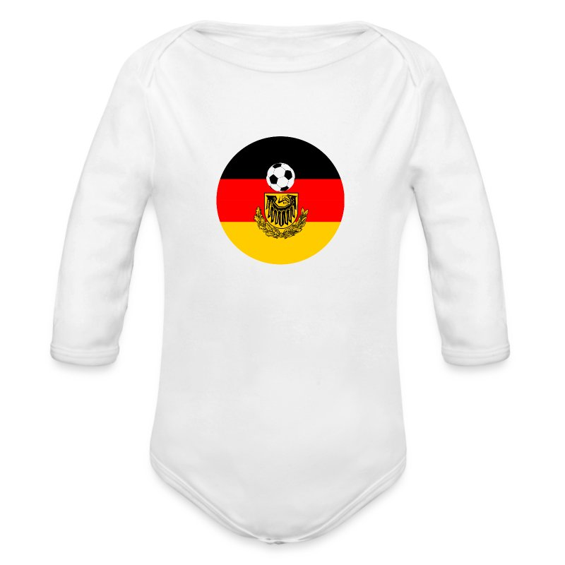 germany flag with soccer ball one piece spreadshirt. Black Bedroom Furniture Sets. Home Design Ideas