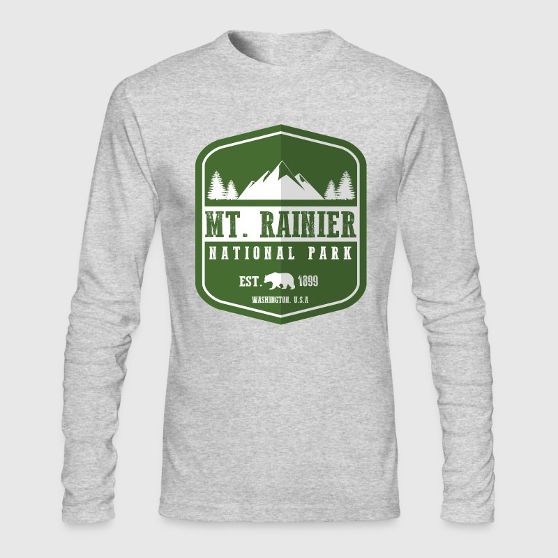Mt. Rainier National Park Long Sleeve Shirts - Men's Long Sleeve T-Shirt by Next Level