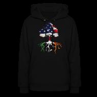 Hoodies ~ Women's Hoodie ~ USA Irish Roots