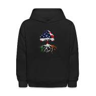 Sweatshirts ~ Kids' Hoodie ~ USA Irish Roots