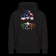 Hoodies ~ Men's Hoodie ~ USA Irish Roots