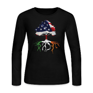 Long Sleeve Shirts ~ Women's Long Sleeve Jersey T-Shirt ~ USA Irish Roots