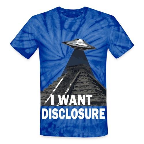 UFO Disclosure tie dye - Unisex Tie Dye T-Shirt