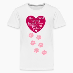Dog Lover T shirt with paw prints and cute quote`