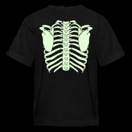 Kids' Shirts ~ Kids' T-Shirt ~ Kids Glow in the Dark Rib Cage Shirt