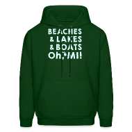 Hoodies ~ Men's Hoodie ~ Beaches and Lakes and Boats - Oh, MI!