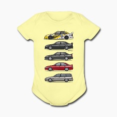 Stack of Opel Omegas / Vauxhall Carlton A Baby Bodysuits