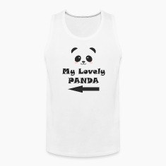 My Lovely Panda MAN WOMAN COUPLE Tank Tops