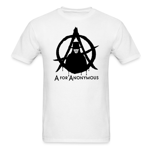A for Anonymous 2c - Men's T-Shirt