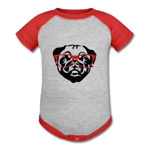 Pug  - Baby Contrast One Piece