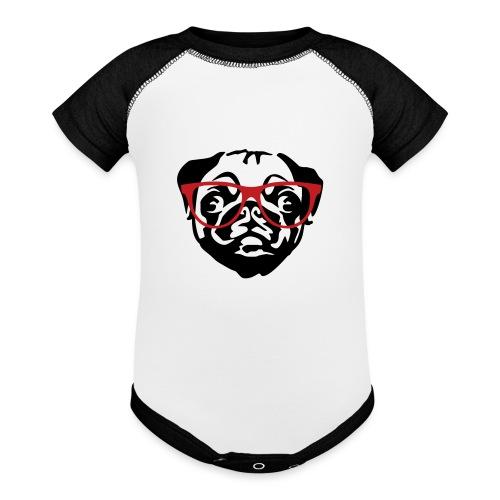 Pug  - Contrast Baby Bodysuit