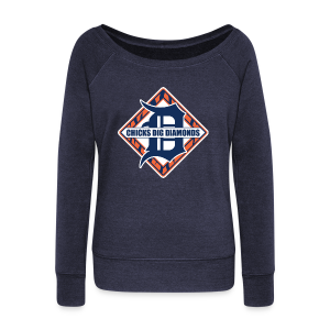 Chicks Dig Diamonds - Women's Wideneck Sweatshirt