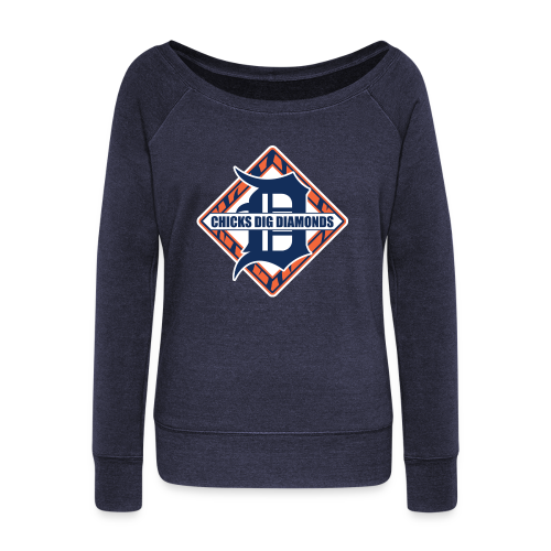 Chicks Dig Diamonds - Women's Wideneck Sweatshirt