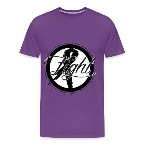 Fight Cancer Men's T-Shirt - Men's Premium T-Shirt
