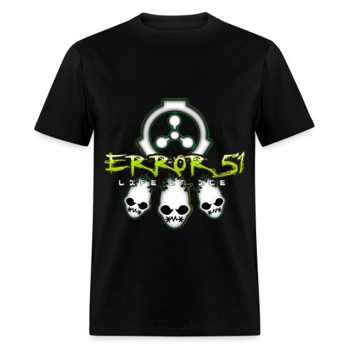 Error 51 Life In Ice Black T-Shirt - Men's T-Shirt
