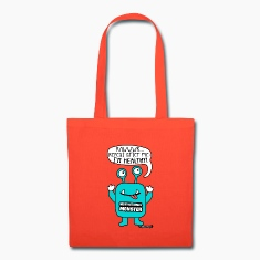 Motivational Monster I'm healthy, Wishllywood ™ Bags & backpacks