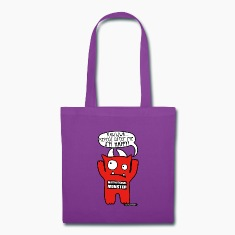 Motivational Monster I'm happy, Wishllywood ™ Bags & backpacks