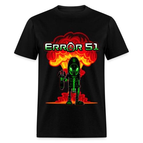 Error 51Bomb Man Black T-Shirt - Men's T-Shirt