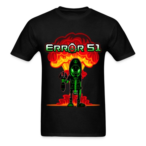 Error 51Bomb Man Black T-Shirt - Men's T-Shirt