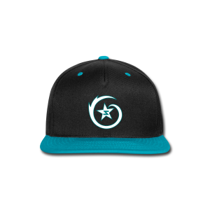 SWIRL Logo Snapback Black/Teal/White - Snap-back Baseball Cap