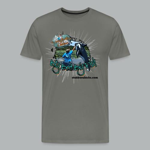 Big Bait Big Fish (premium) (front only) - Men's Premium T-Shirt