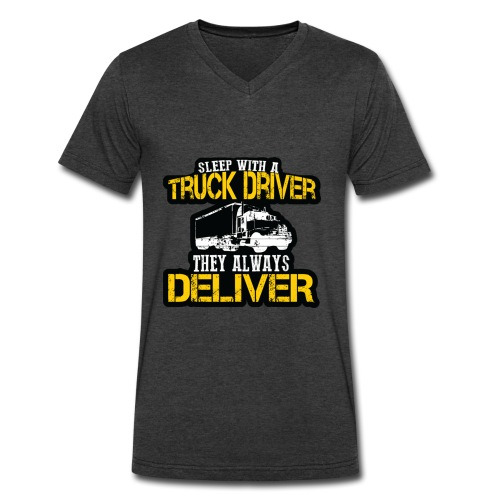 Sleep With A Truck Driver - Men's V-Neck T-Shirt by Canvas