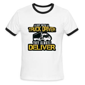 Sleep With A Truck Driver - Men's Ringer T-Shirt