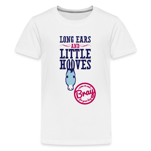 Kid's White Donkey T - Kids' Premium T-Shirt
