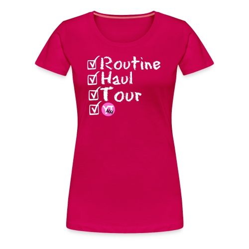 YouTube Mom Checklist - Women's Premium T-Shirt