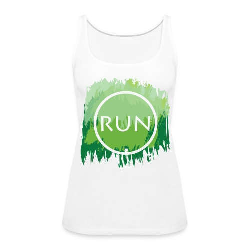 Run Watercolor Tank - Women's Premium Tank Top