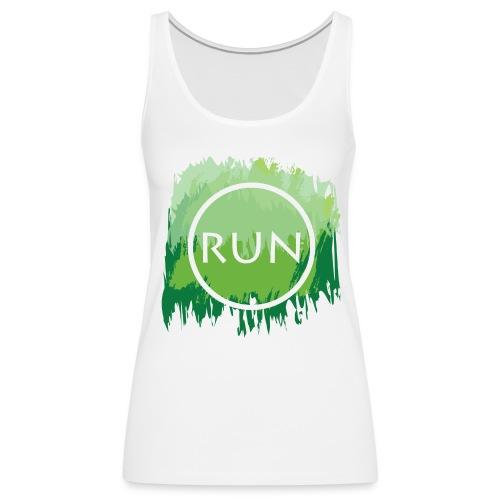 Run Watercolor Tank - Women's Premium Tank Top
