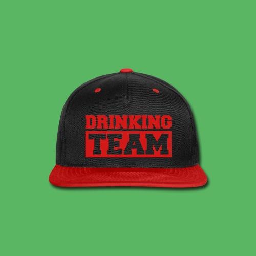 snap back drinking team - Snap-back Baseball Cap