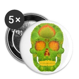 Aspen Leaf Skull 10 - Large Buttons