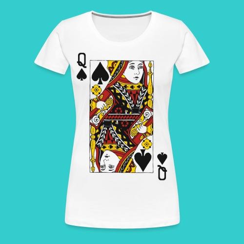Queen Card - Women's Premium T-Shirt