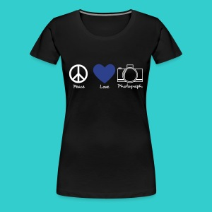 peace, love, photograph. - Women's Premium T-Shirt