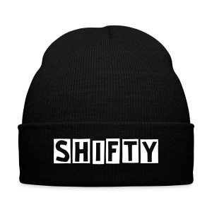 Shifty Winter Hat - Knit Cap with Cuff Print