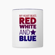 American Heartbeat Two-Toned Mug