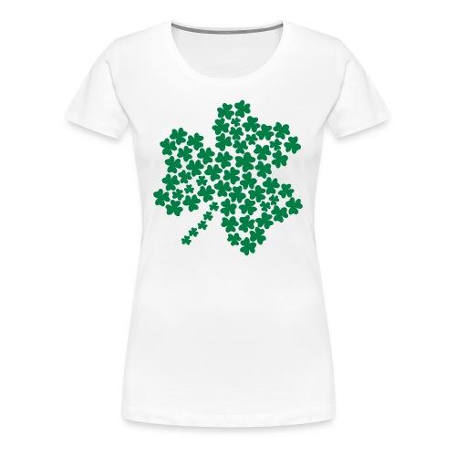 Women's Shamrock of Shamrocks - White - Women's Premium T-Shirt