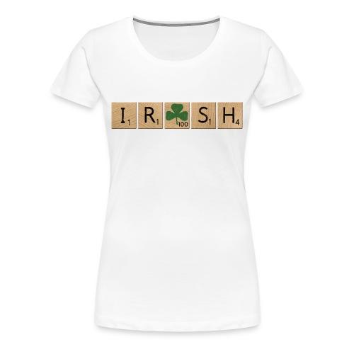 Women's Scrabble Irish - White - Women's Premium T-Shirt