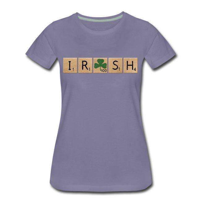 Women's Scrabble Irish - White