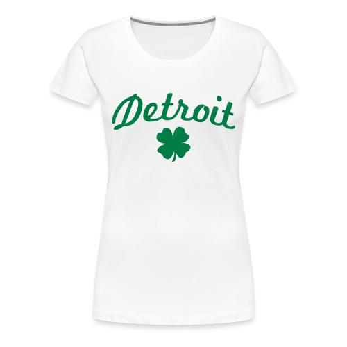 Women's Detroit Shamrock - White - Women's Premium T-Shirt