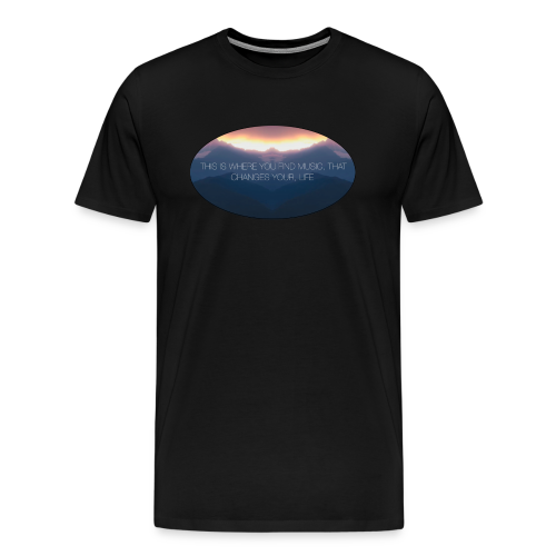 Earth Fades Mountain T-Shirt - Men's Premium T-Shirt