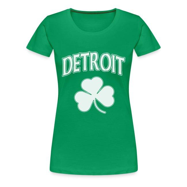Women's Detroit Irish Shamrock - Green