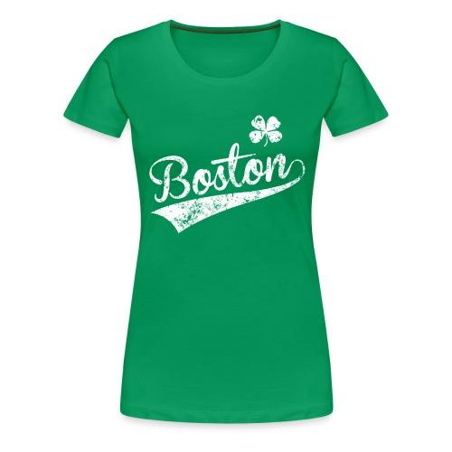 Women's Boston Shamrock - Green - Women's Premium T-Shirt
